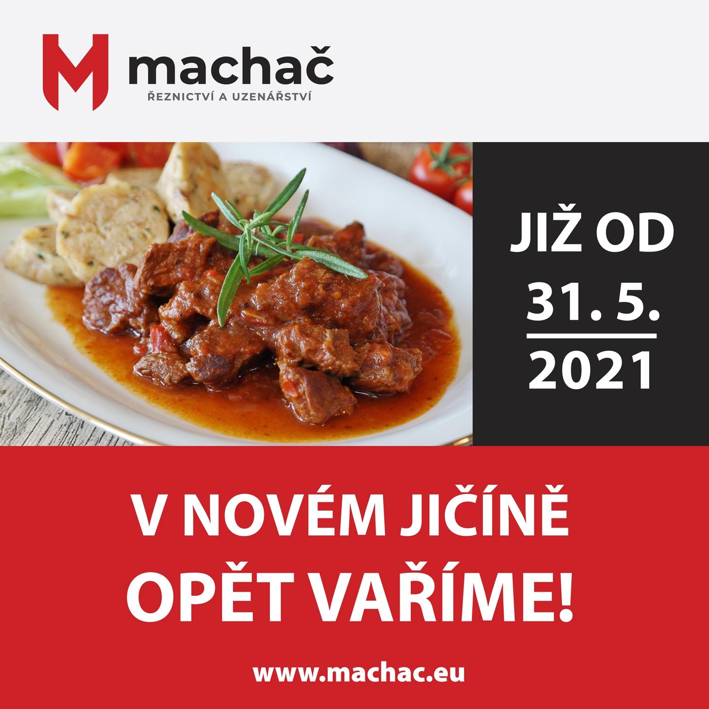 V Novém Jičíně od 31. 5. 2021 opět vaříme!