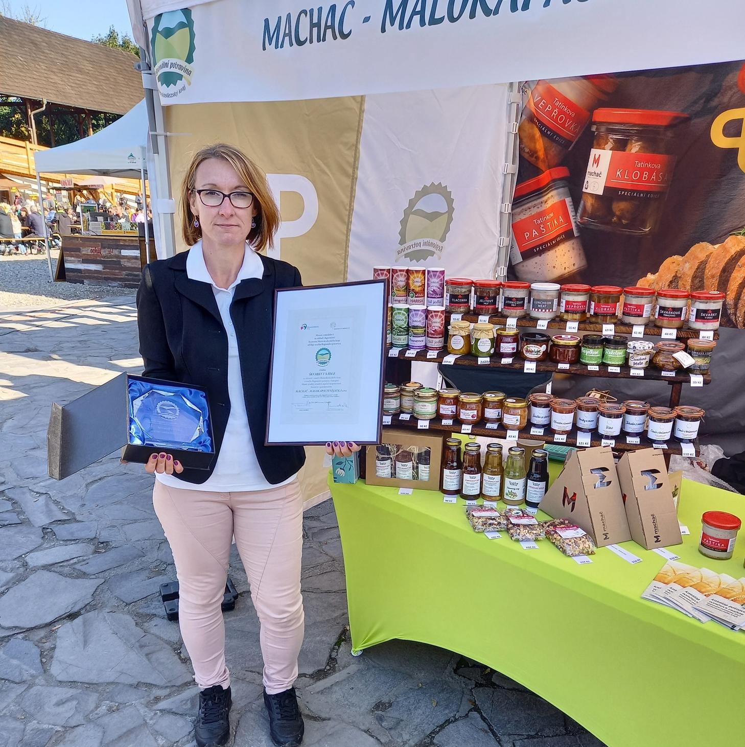 Předání ocenění Regionální potravina 2021
